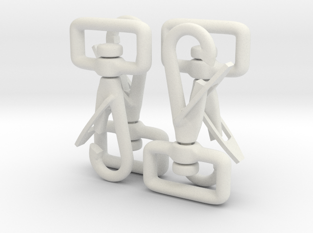 Clip Hooks with rotating webbing band. 3d printed