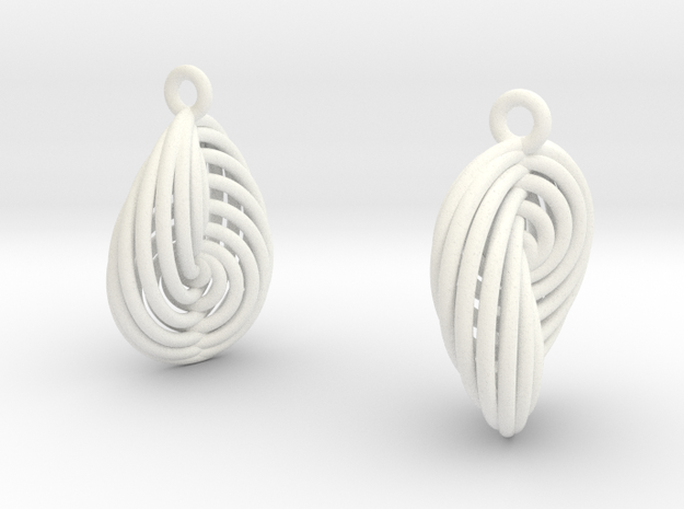 Running in Circles - Earrings (S) 3d printed Stainless Steel