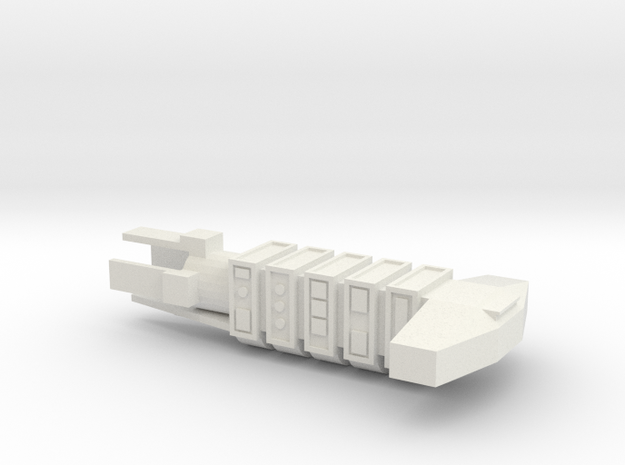 Merchant Spaceship in White Natural Versatile Plastic