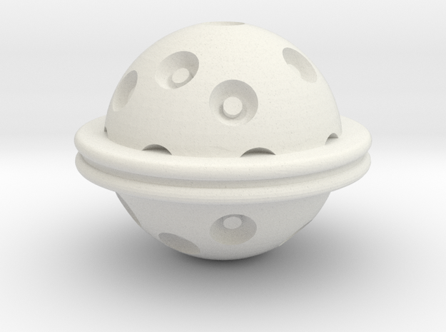 Hydra Ball in White Natural Versatile Plastic
