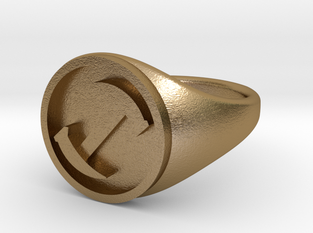 Simpsons Stonecutters ring size 14 3d printed