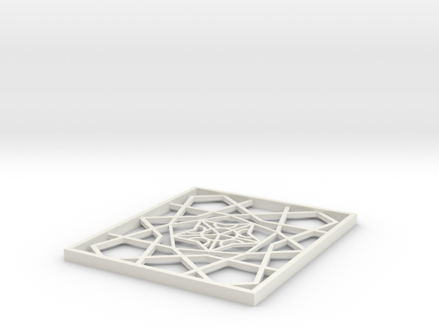Girih Tile1 in White Natural Versatile Plastic