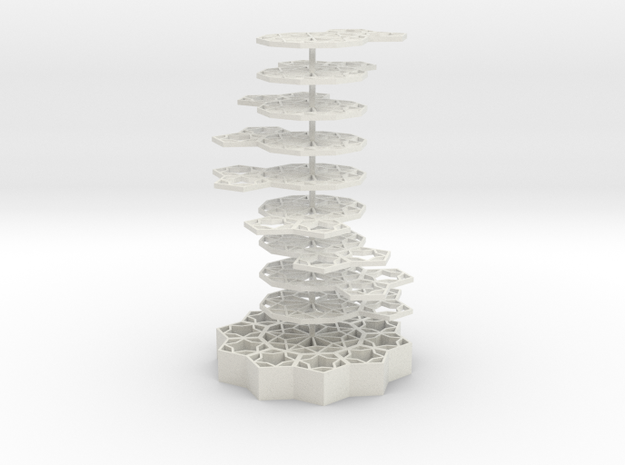 Girih Tile - Double Helix in White Natural Versatile Plastic