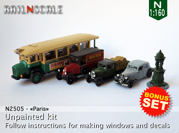 BONUS SET Paris (N 1:160) in Smooth Fine Detail Plastic