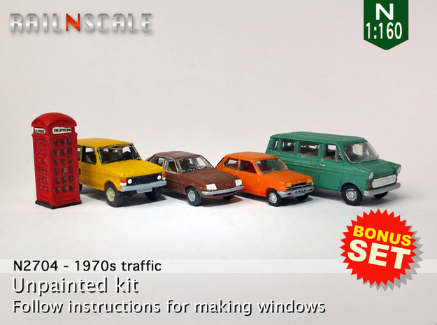 BONUS SET 1970s Traffic (N 1:160)
