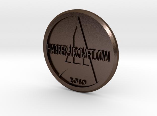 Harber Aircraft logo coin 3d printed