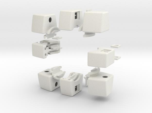 Void Floppy Cube V2 (3x3x1) in White Natural Versatile Plastic