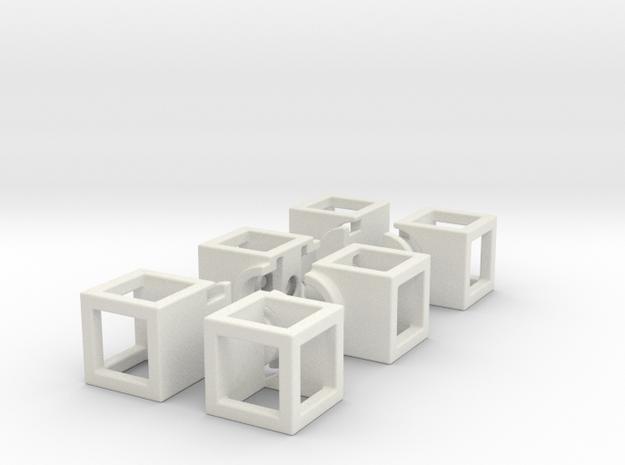 Hollow 1x2x3 in White Natural Versatile Plastic