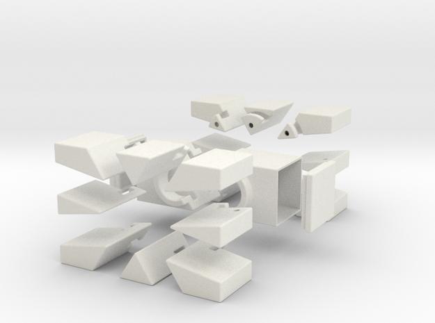 Square 321 in White Natural Versatile Plastic