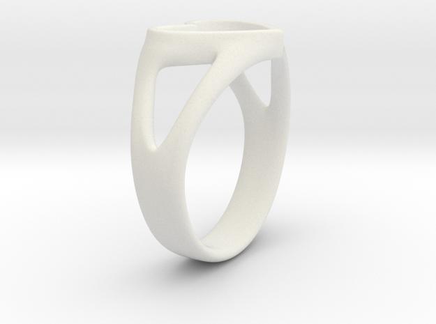 Silvia Heart ring in White Natural Versatile Plastic