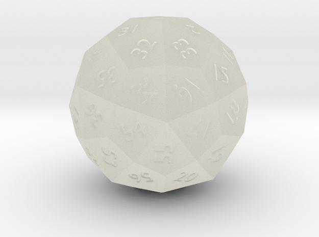 Deltoidal Hexecontahedron die - d60 3d printed Printed in WSF.