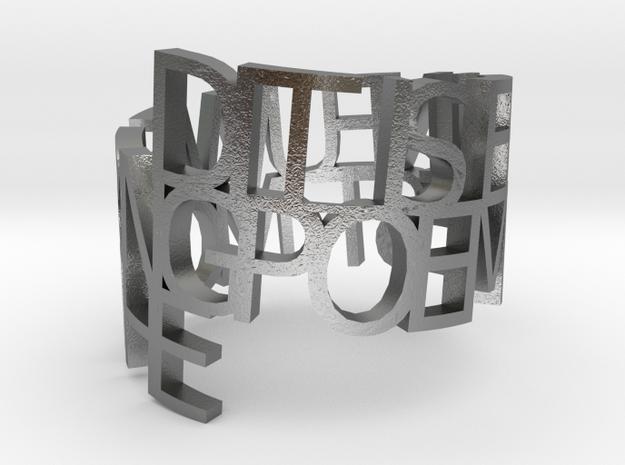 Metal ringpoem yrert 3d printed