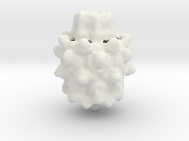 Mandelbulb in White Natural Versatile Plastic