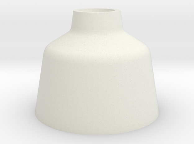 Candlestick High in White Natural Versatile Plastic
