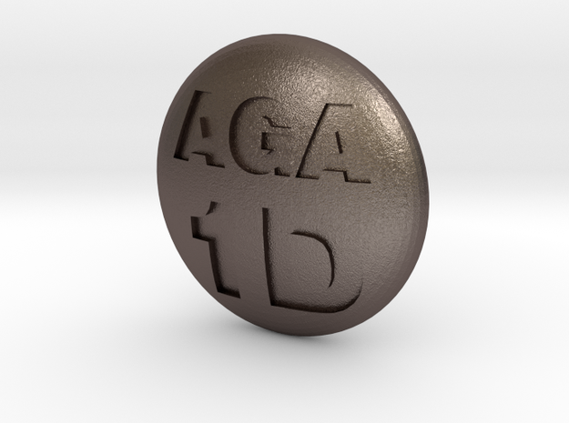 1d stone in Polished Bronzed Silver Steel