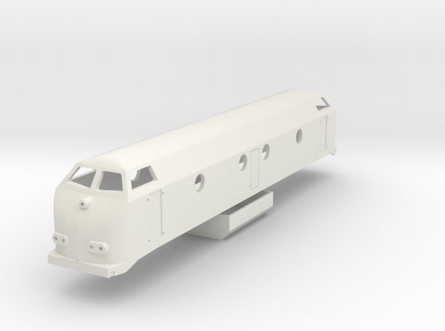 NMBS/SNCB Reeks 55 1:160 in White Natural Versatile Plastic