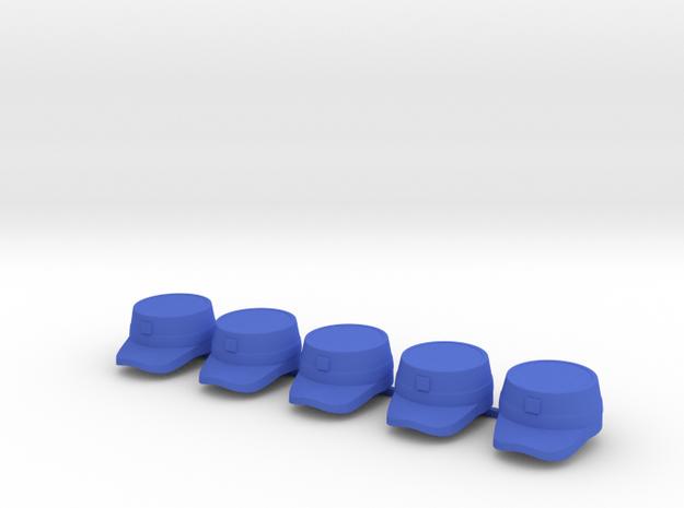 5 x Patrol Cap II  in Blue Processed Versatile Plastic
