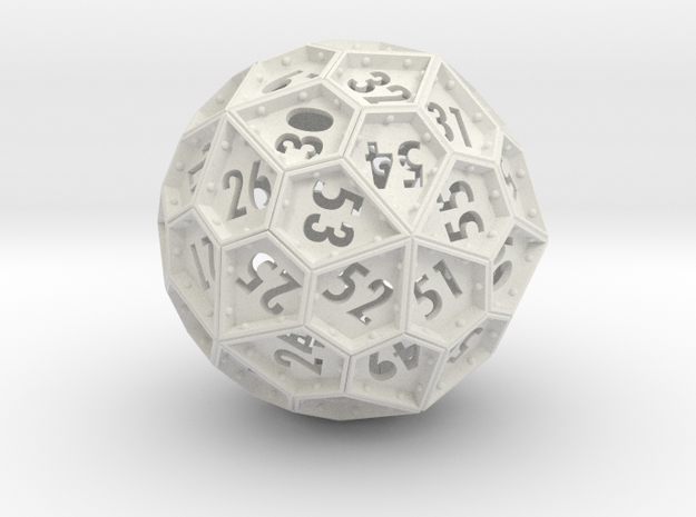 The Rosetta Dice #2 (60) in White Natural Versatile Plastic