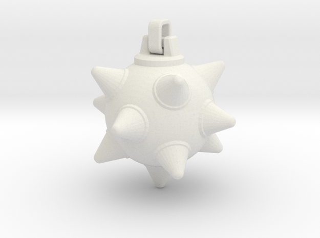 Morning-Star Pendant Head in White Natural Versatile Plastic