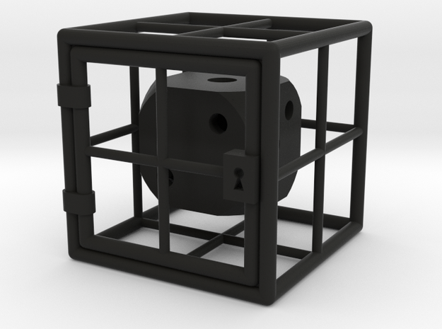 Caged D6 3d printed