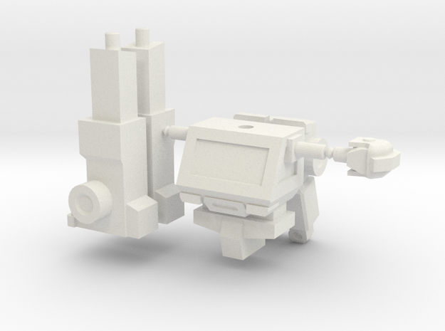 Ironhide minifigure in White Natural Versatile Plastic