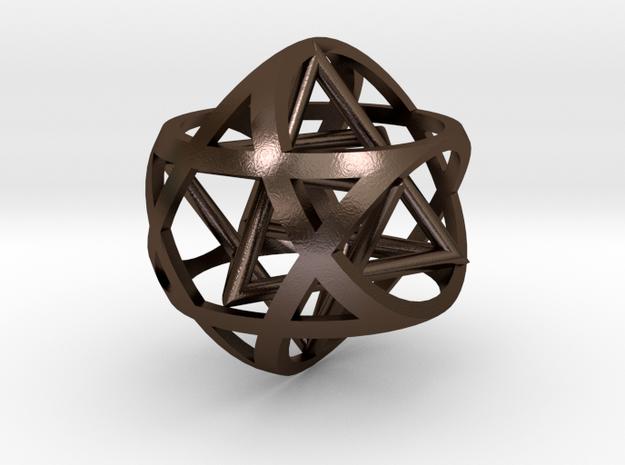Star inside sphere star 3d printed