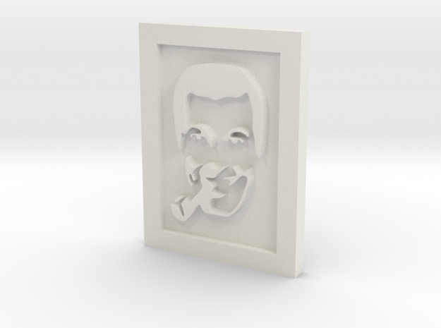 Subgenius pin in White Natural Versatile Plastic