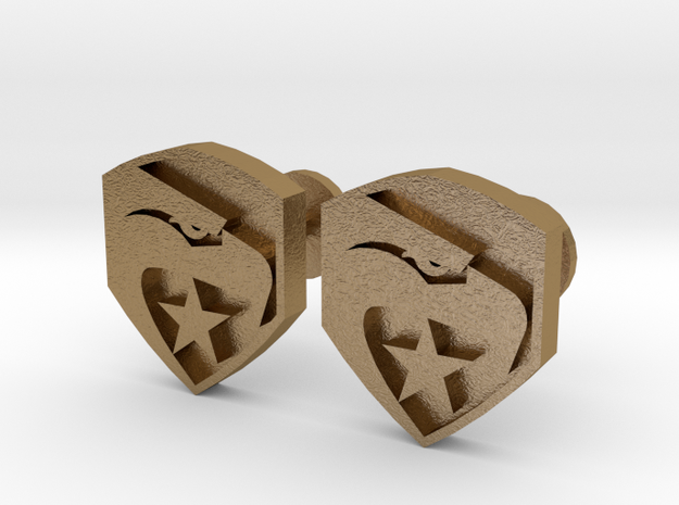 GI Joe logo cufflinks 3d printed