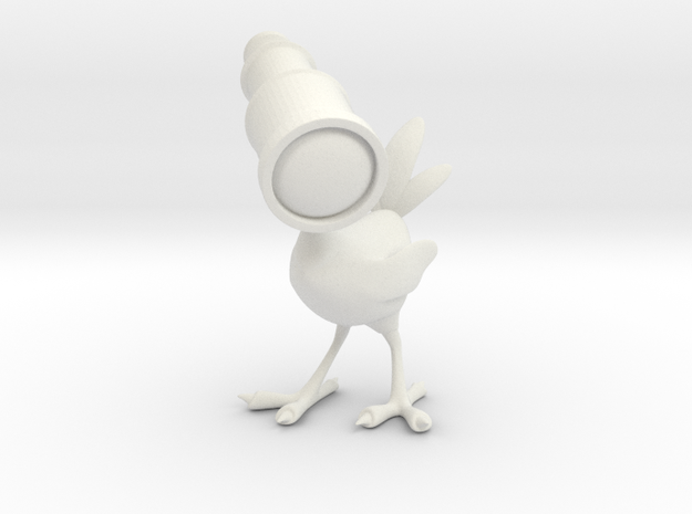 spyglass bird in White Natural Versatile Plastic