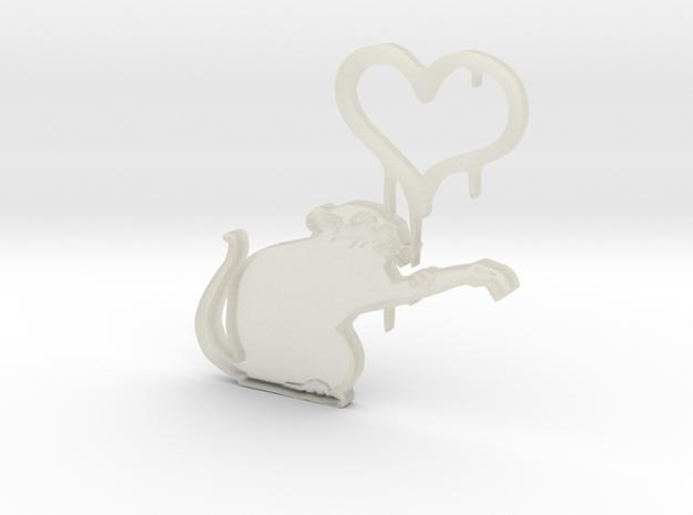 Banksy Rat 3d printed