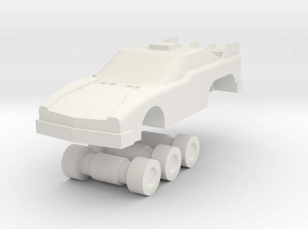 Scamper Mini-car in White Natural Versatile Plastic