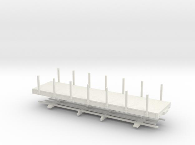 HOn30 28 ft flat in White Natural Versatile Plastic