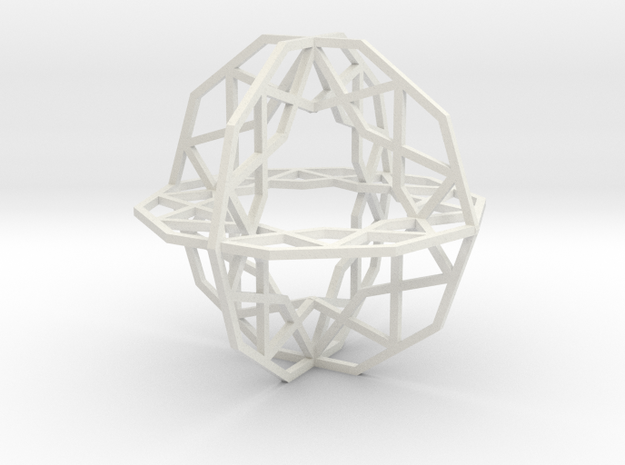 Girih Tile - Triple Decagon in White Natural Versatile Plastic