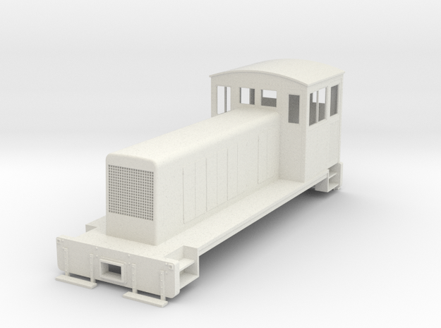 ON30 conversion body for switcher chassis in White Natural Versatile Plastic