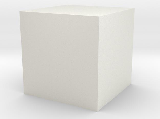 testkubus in White Natural Versatile Plastic