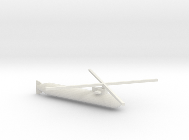 Submacopter in White Natural Versatile Plastic