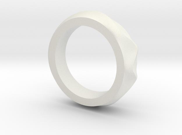 Dune ring in White Strong & Flexible