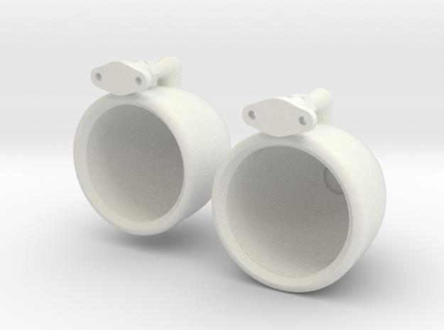1/8 scale spotlights in White Natural Versatile Plastic