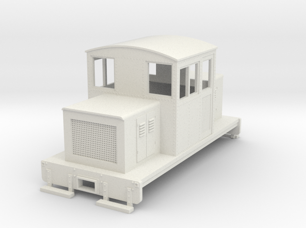 HOn30 Centercab conversion for Kato 11-105 chassis in White Natural Versatile Plastic
