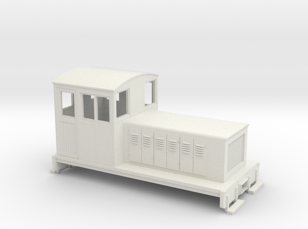 HOn30 Endcab conversion 1 for Kato 11-105 chassis in White Natural Versatile Plastic