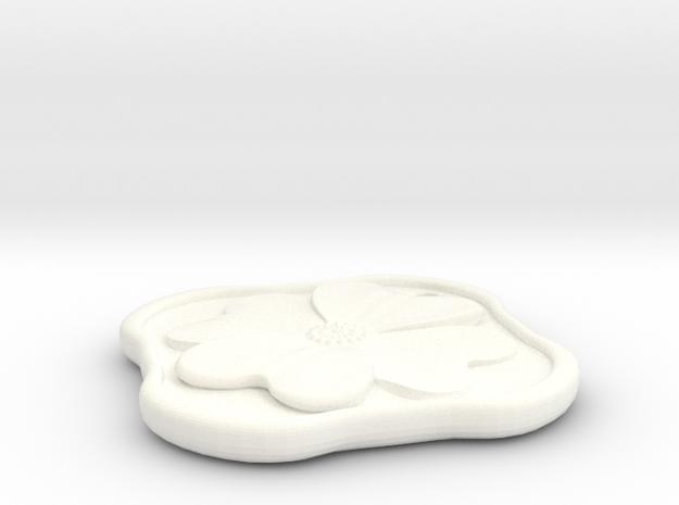 Dogwood Pendant 3d printed