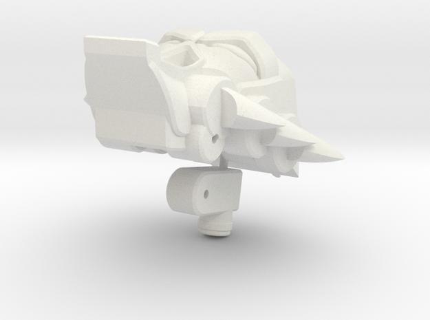 Shockaract head for Animated Shockwave in White Natural Versatile Plastic