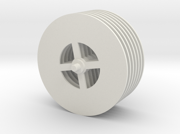 Tesla Turbine Disks Unit in White Strong & Flexible