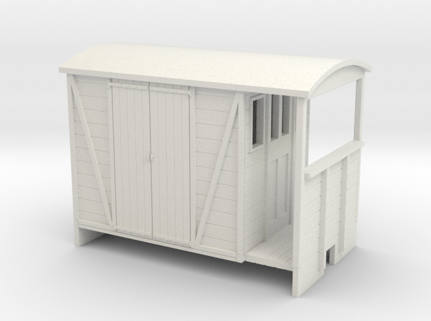 OO9 Brake van with Planked door 3d printed