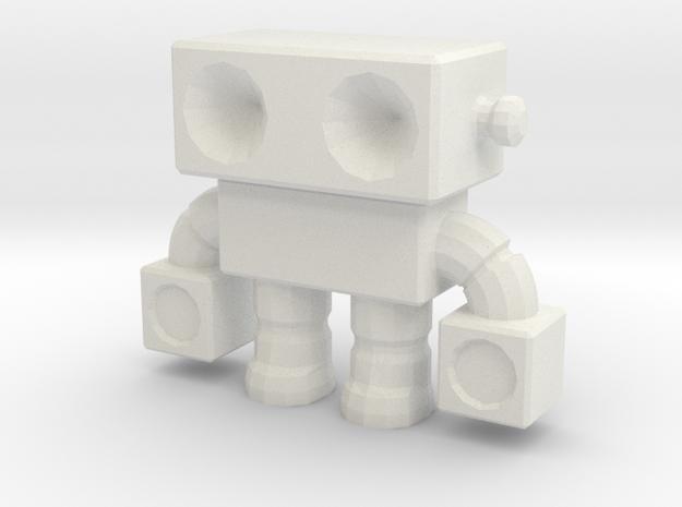 Robot 0014 in White Natural Versatile Plastic