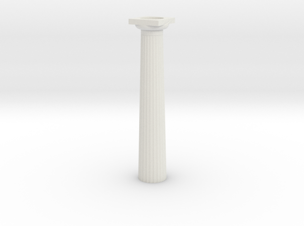 6.5cm Doric Column - hollow core 3d printed
