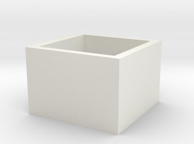 SquareRing 18mmx15mm in White Natural Versatile Plastic