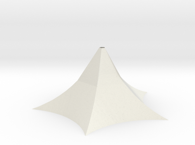 Sbird House 4 in White Natural Versatile Plastic