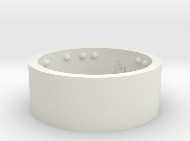 Rond_Ring_CarpeDiem_Int_22mmx10mm in White Natural Versatile Plastic