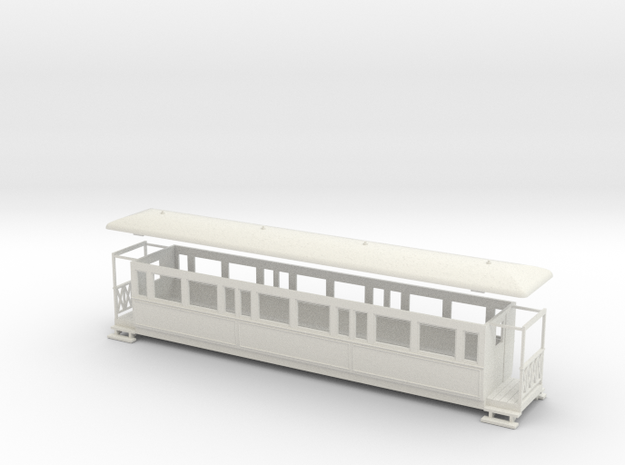 OO9 large tramway coach 3d printed